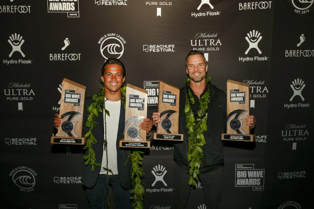 Kai Lenny e Grant Baker, Big Wave Awards, Redondo Beach, Los Angeles (EUA). Foto: © WSL / Wlodarczyk.