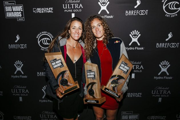 Andrea Moller e Justine Dupont, Big Wave Awards, Redondo Beach, Los Angeles (EUA). Foto: © WSL / Wlodarczyk.