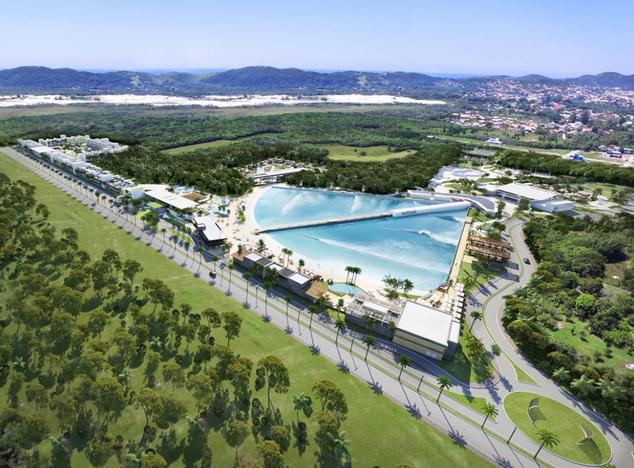 Projeto do condomínio Surfland Brasil, em Garopaba.