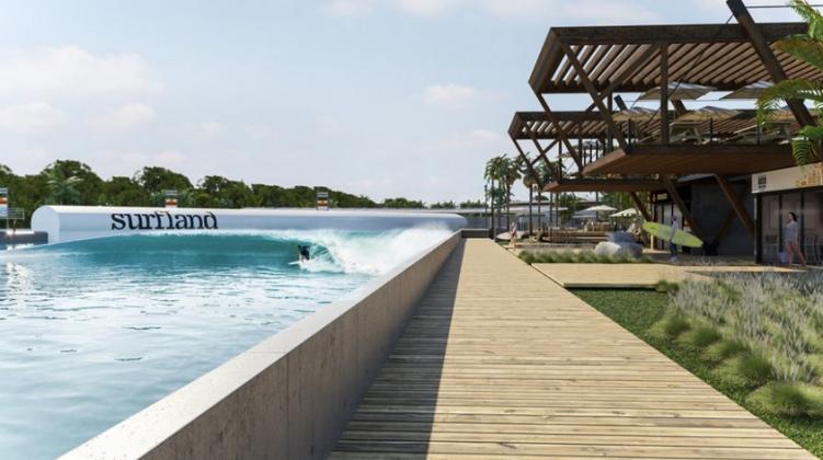 Projeto Surfland Brasil, Garopaba (SC). Foto: Reprodução.