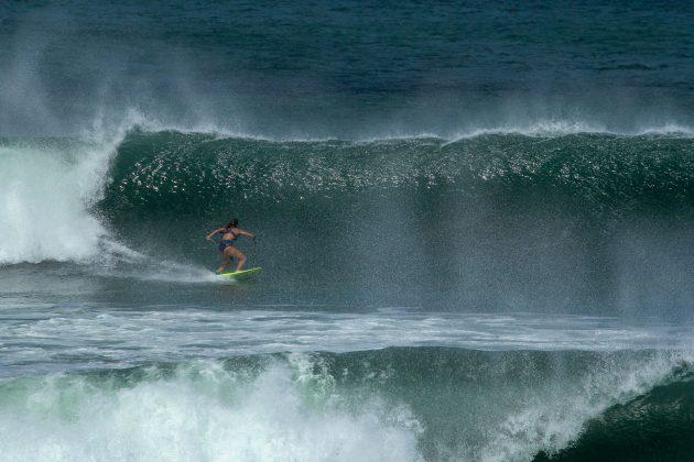 Carla Barroso, em Punta Miramar, Nicarágua. Foto: Alex Thompson.