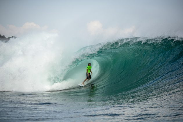 Clay Marzo, Rip Curl Cup 2019, Padang Padang, Bali, Indonésia. Foto: Nate Lawrence.