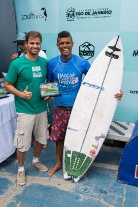 Guilherme Aguiar e José Eduardo, Macaé Surf Pro, Praia do Pecado (RJ). Foto: Leandro Foca.