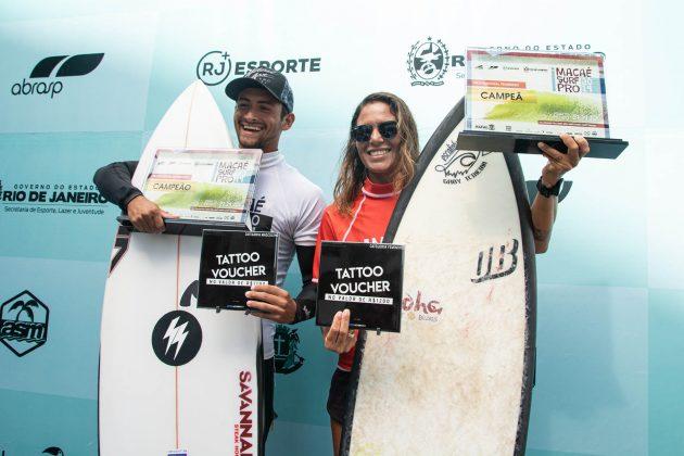 Igor Moraes e Gabriela Teixeira, Macaé Surf Pro, Praia do Pecado (RJ). Foto: Leandro Foca.