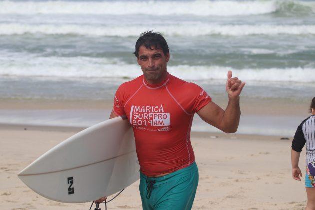 Leo Neves, Maricá Surf Pro / AM 2019, Ponta Negra (RJ). Foto: @surfetv / @carlosmatiasrj.