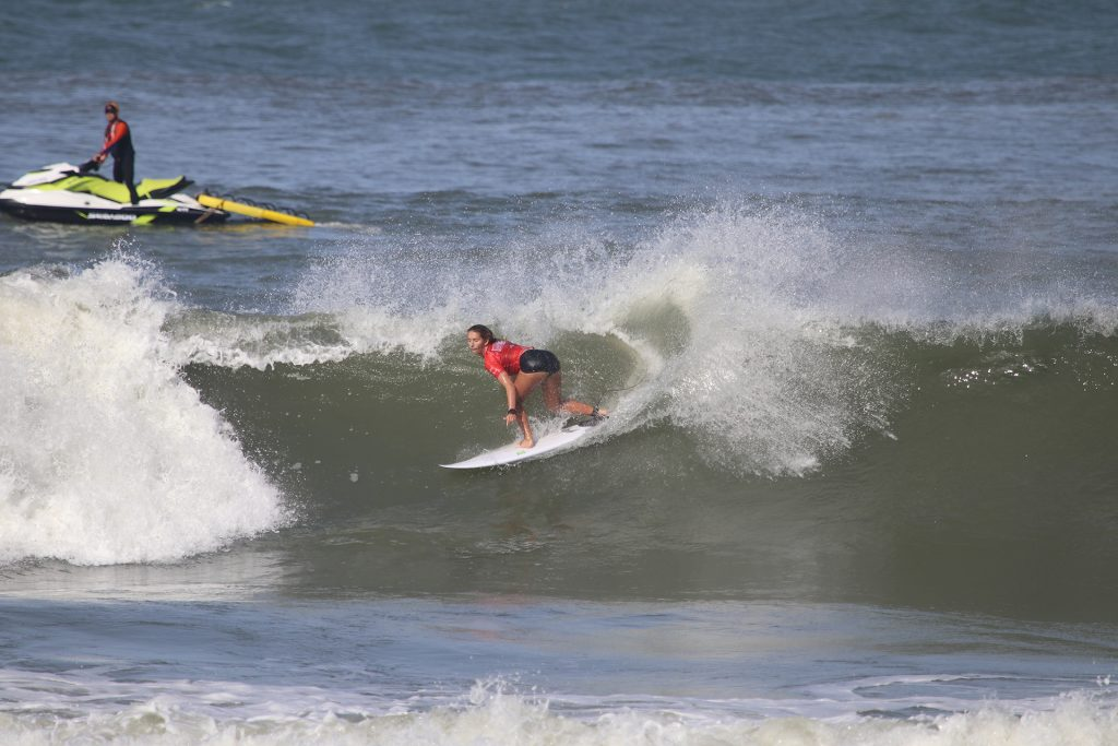 Mariana Areno arrancou uma nota 10 neste sábado em Ponta Negra.