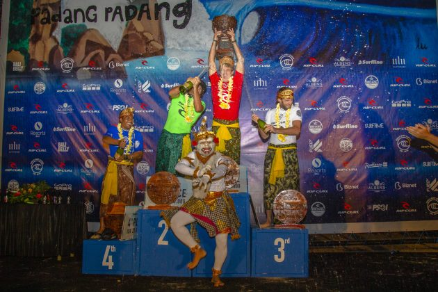 Pódio, Rip Curl Cup 2019, Padang Padang, Bali, Indonésia. Foto: Joey Griffiths.
