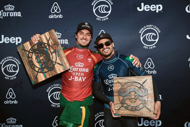 Gabriel Medina e Italo Ferreira, Open J-Bay 2019, Jeffreys Bay, África do Sul. Foto: WSL / Sloane.