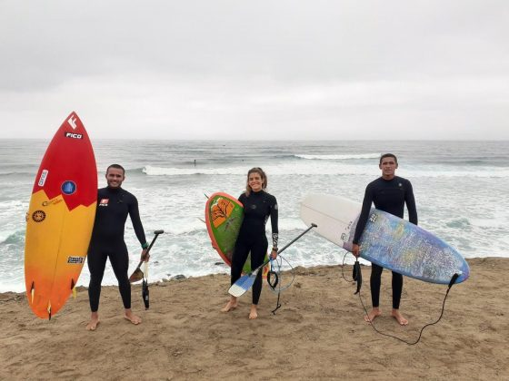 Luiz DIniz, Nicole Pacelli e Wenderson Biludo, Punta Rocas, Peru. Foto: Carmelo Seabra e Américo Pinheiro.