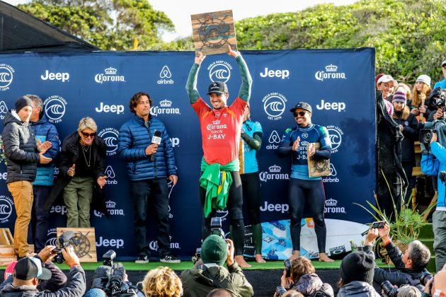Gabriel Medina e Italo Ferreira, Open J-Bay 2019, Jeffreys Bay, África do Sul. Foto: WSL / Tostee.