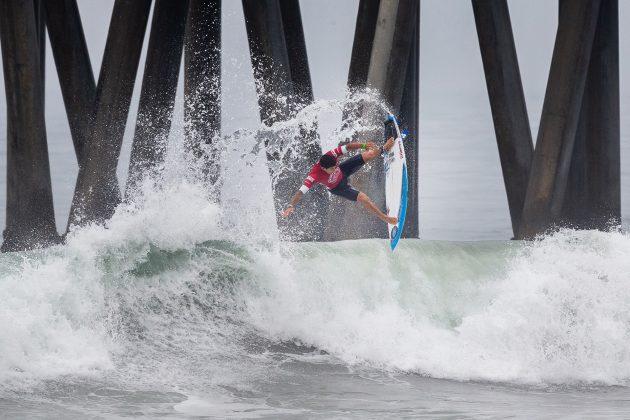 Alex Ribeiro, Vans US Open 2019, Huntington Beach, Califórnia (EUA). Foto: WSL / Morris.