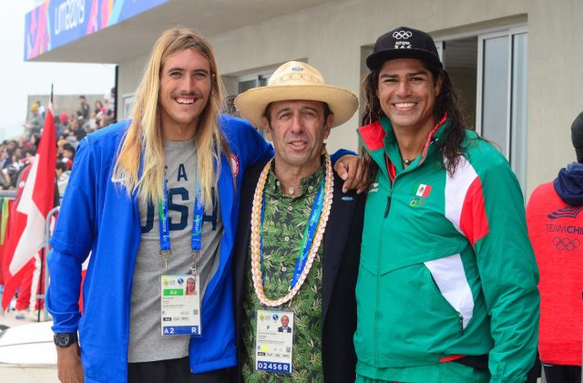 Daniel Hughes, Fernando Aguerre, Fernando Stalla, Jogos Pan-Americanos 2019, Punta Rocas, Peru. Foto: Latinwave.cl.