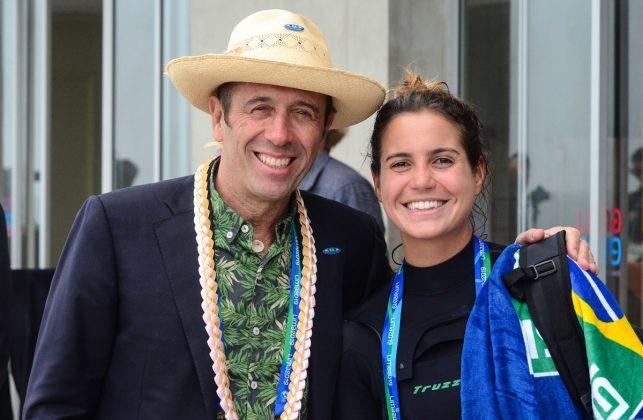 Fernando Aguerre e Chloé Calmon, Jogos Pan-Americanos 2019, Punta Rocas, Peru. Foto: Latinwave.cl.