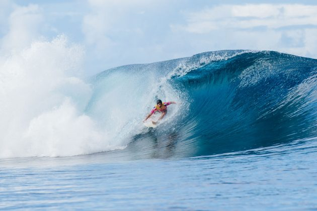 Jeremy Flores, Tahiti Pro 2019, Teahupoo. Foto: WSL / Dunbar.