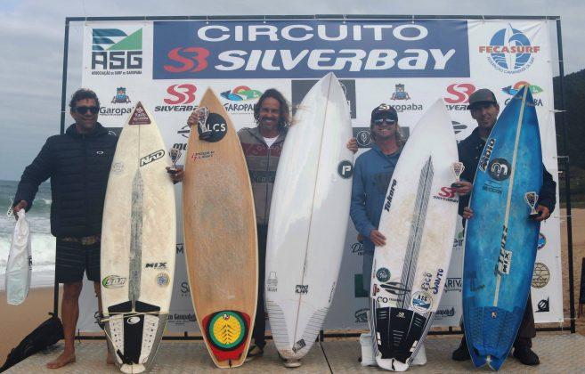 Pódio Master, Circuito Silverbay 2019, Garopaba (SC). Foto: Basilio Ruy/P.P07.