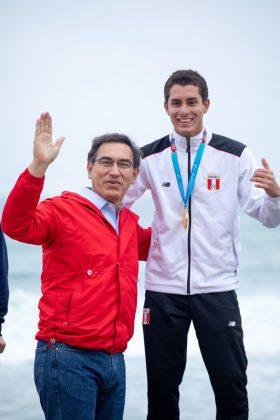 Martin Vizcarra e Piccolo Clemente, Jogos Pan-Americanos 2019, Punta Rocas, Peru. Foto: ISA / Jimenez.