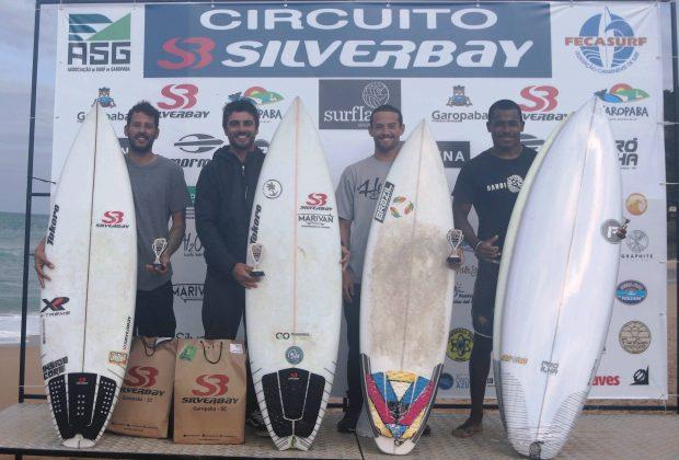 Pódio Open, Circuito Silverbay 2019, Garopaba (SC). Foto: Basilio Ruy/P.P07.