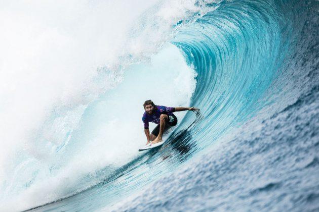 Wade Carmichael, Tahiti Pro 2019, Teahupoo. Foto: WSL / Cestari.