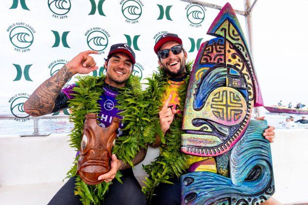 Gabriel Medina e Owen Wright, Tahiti Pro 2019, Teahupoo. Foto: WSL / Cestari.