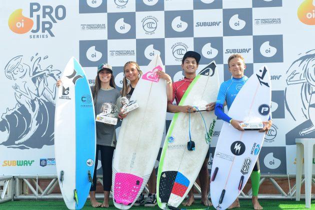 Finalistas, Oi Pro Junior Series 2019, Joaquina, Florianópolis (SC). Foto: Marcio David / Oi.