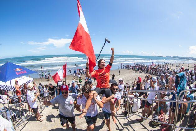 Sofia Mulanovich, ISA World Surfing Games 2019, Miyazaki, Japão. Foto: ISA / Jimenez.