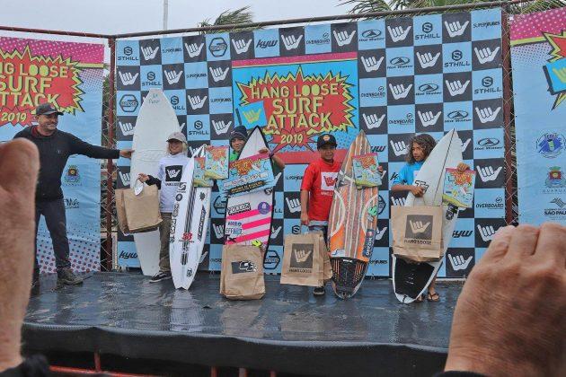 Podio Petit, Hang Loose Surf Attack 2019, Praia do Tombo, Guarujá (SP). Foto: Munir El Hage.