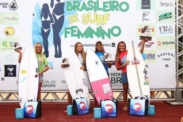 Pódio Pro-Júnior, Circuito Brasileiro Feminino 2019, Itamambuca, Ubatuba (SP). Foto: Daniel Smorigo.