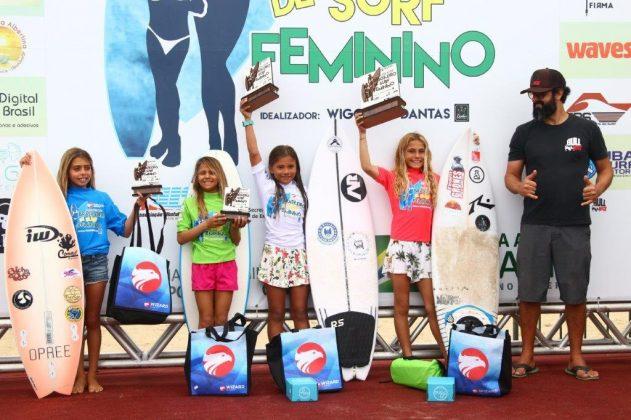 Pódio Sub 10, Circuito Brasileiro Feminino 2019, Itamambuca, Ubatuba (SP). Foto: Daniel Smorigo.