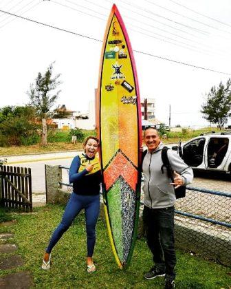 Raquel Heckert e Luis Reis, Praia do Cardoso, Laguna (SC). Foto: Luis Reis.