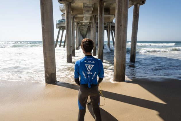 Nazareno Pereyra, Vissla World Junior Championship 2019, Huntington Beach, Califórnia (EUA). Foto: ISA / Evans.
