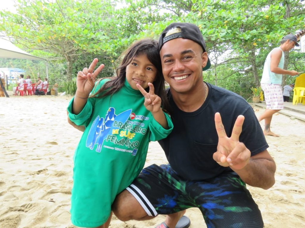 Wiggolly Dantas é um dos organizadores do Surf Treino Itamambuca.