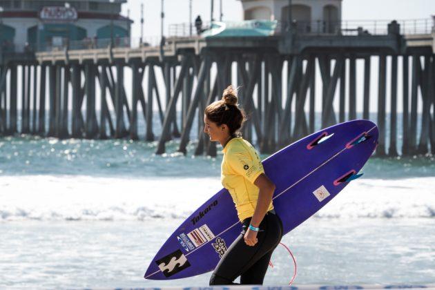 Luana Silva, Vissla World Junior Championship 2019, Huntington Beach, Califórnia (EUA). Foto: ISA / Evans.