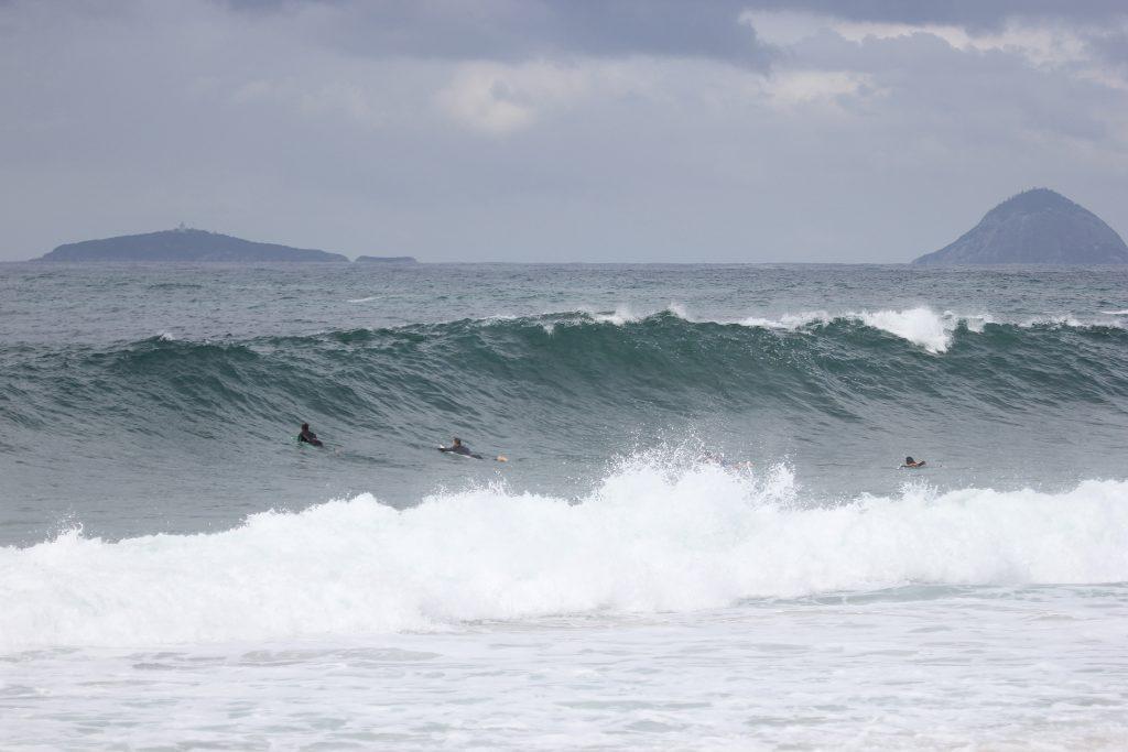A previsão indica ondas de até 1 metro para as disputas do Itacoatiara Pro Junior.