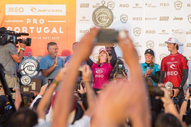 Caroline Marks, MEO Rip Curl Pro Portugal 2019, Supertubos, Peniche. Foto: WSL / Masurel.