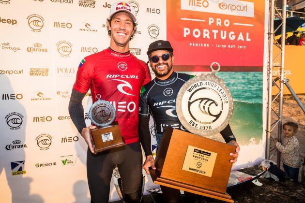 Jordy Smith e Italo Ferreira, MEO Rip Curl Pro Portugal 2019, Supertubos, Peniche. Foto: WSL / Poullenot.