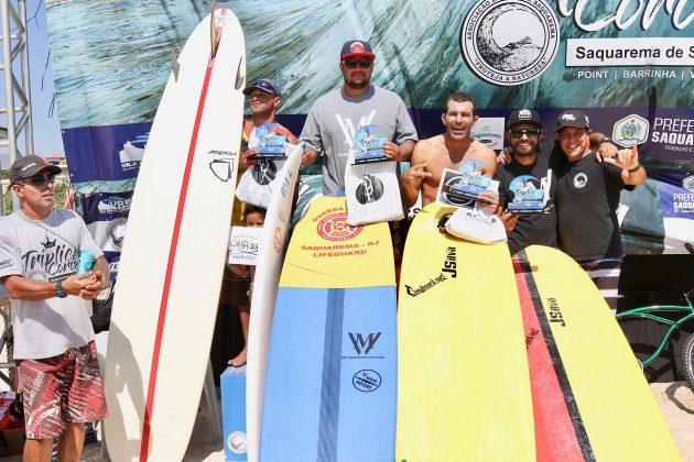 Pódio Longboard, Tríplice Coroa Saquarema de Surf 2019. Foto: Assessoria ASS.