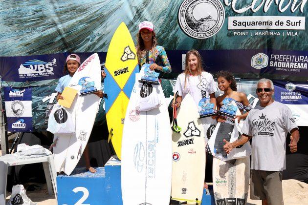 Pódio Sub 12, Tríplice Coroa Saquarema de Surf 2019. Foto: Assessoria ASS.