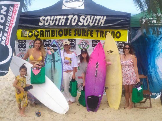 Pódio Feminino, Surfe Treino South to South 19, Moçambique, Florianópolis (SC). Foto: Marcelo Barbosa.