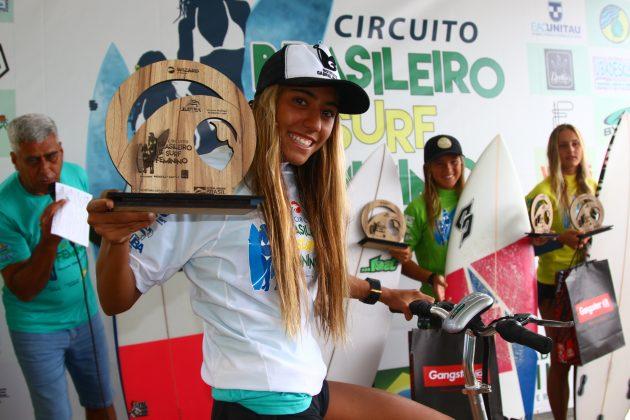 Pódio Pro Junior, Circuito Brasileiro Feminino 2019, Itamambuca, Ubatuba (SP). Foto: Daniel Smorigo.