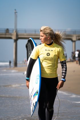 Zoe Steyn, Vissla World Junior Championship 2019, Huntington Beach, Califórnia (EUA). Foto: ISA / Evans.