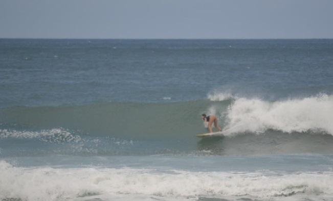 Radharani Blum, Surfe Treino South to South 19, Moçambique, Florianópolis (SC). Foto: Marcelo Barbosa.