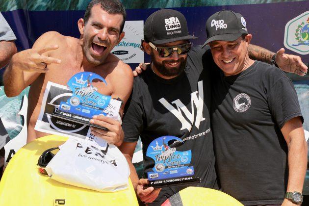 Sol, Jeferson e Hamilton Araujo, Tríplice Coroa Saquarema de Surf 2019. Foto: Assessoria ASS.