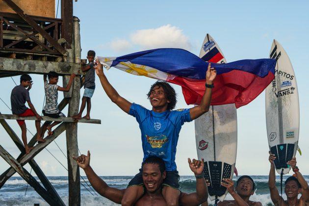 John Mark Tokong, Siargao Cup 2019, Cloud 9, Filipinas. Foto: WSL / Tim Hain.
