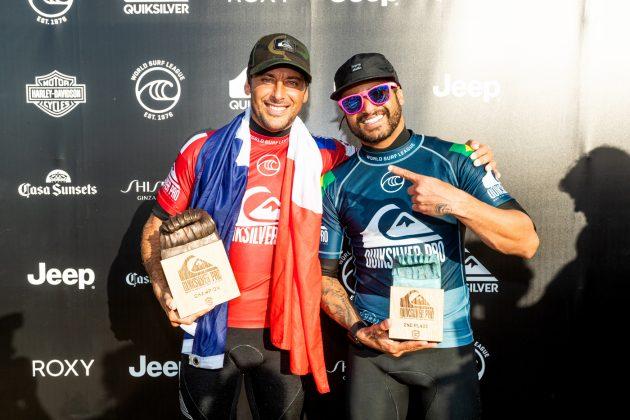 Jeremy Flores e Italo Ferreira, Quiksilver Pro France 2019, La Graviere, França. Foto: WSL / Poullenot.