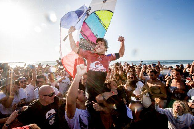 Jeremy Flores, Quiksilver Pro France 2019, La Graviere, França. Foto: WSL / Masurel.