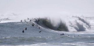 Tufão desperta o pico