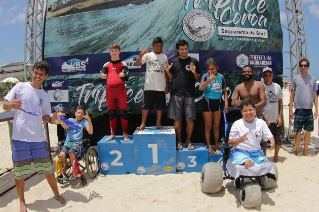 Surf Adaptado, Tríplice Coroa Saquarema de Surf 2019. Foto: Assessoria ASS.