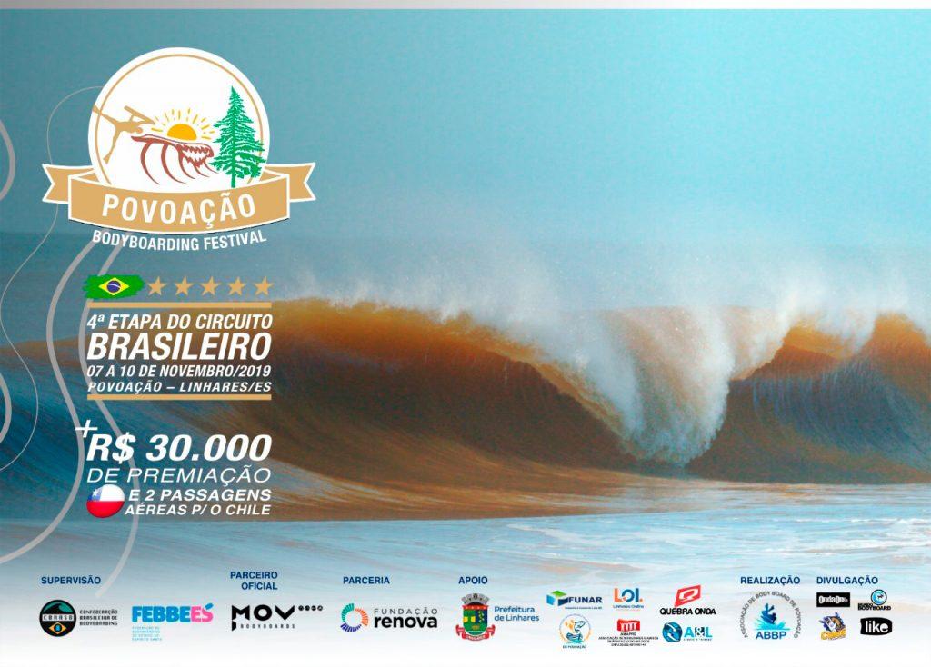 Cartaz do Povoação Bodyboarding Festival 2019.