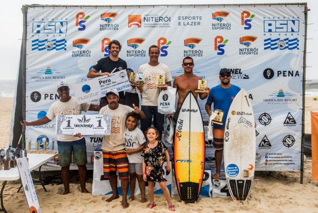 Pódio Master, Circuito ASN 2019, Itacoatiara, Niterói (RJ). Foto: Andre Cyriaco.