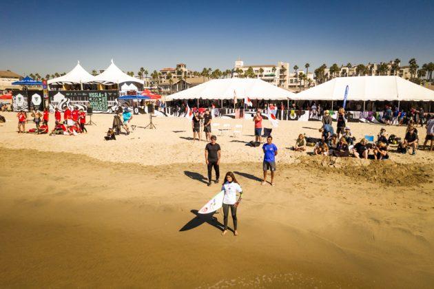 Sophia Medina, Vissla World Junior Championship 2019, Huntington Beach, Califórnia (EUA). Foto: ISA / Sean Evans.